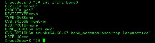 bond0 configuration